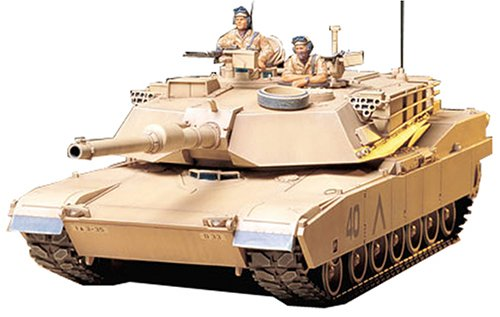 - 1/35 U.S.M1A1 ABRAMS 120mm GUN MAIN BATTLE TANK MODEL KIT (TAMIYA)