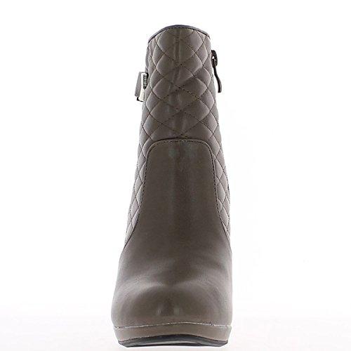 Stivali talpe al tacco fine asta imbottita di 9,5 cm