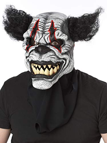 Costumes That Start With An A (California Costumes Men's Ani-Motion Masks - Last Laugh The Clown Ani-Motion Mask, Black/Red, One)
