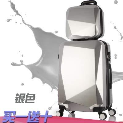 Reclain ホット 2 ピース/セット 20 24 28 インチトロリーケース旅行スピナーパスワード荷物セクションローリングスーツケースファッション新 Cosmeticbag 20\ ブラック B07QSTWM2M