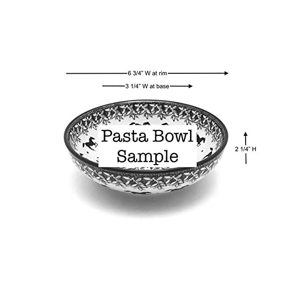 Polish Pottery Bowl – Contemporary Salad – Unikat Signature – U4610
