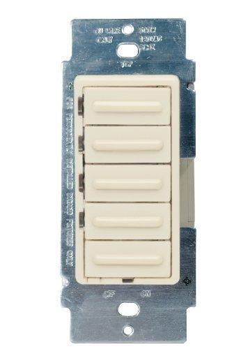 Leviton 6161-A 500 W, 120 VAC, Decora 4-Level Step Dimmer, Almond