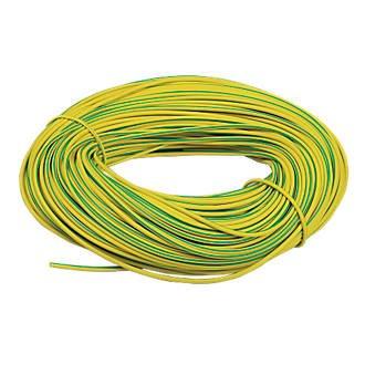 Yellow  PVC Earth Sleeving 4mm 10 meters Green