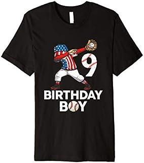9 Years Old 9th Birthday Boy Baseball Dabbing  Gift Premium T-shirt | Size S - 5XL