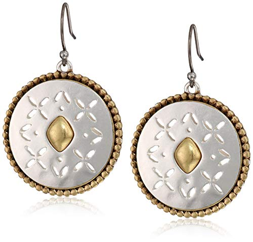 Best buy Lucky Brand Women' Tribal Drop Earrings, Two Tone, One Size