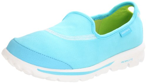 Skechers Performance Women's Go Walk Slip-On Walking Shoes, Aqua, 8.5 M US