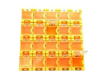 1x 10 Leer Container Box für SMD Bauelemente Mäuseklo Sortiment 0603 0805 1206