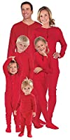 PajamaGram Red Dropseat Matching Family Pajama Set