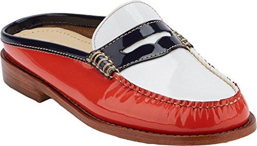 22809 White Wynn Poppy Shoe amp; Mule Women's Leather H G 71 Open zEU5KALlpL Back Bass Patent xOUwXnpqa