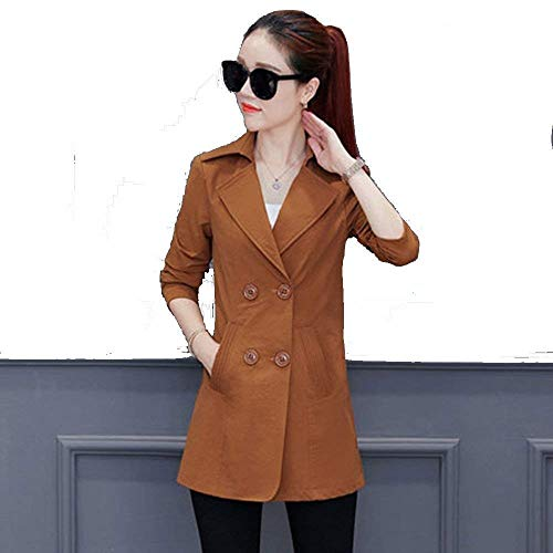 Breasted Lunga Fashion Bavero Slim Fit Outerwear A Double Autunno Invernali Monocromo Calda Giubotto Donna Manica Giacca Grazioso Eleganti Termico Cappotto Lana Giaccone derCxBo