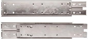 Sugatsune ESR-5 304 Stainless Steel Drawer Slide, 3/4 Extension, Positive Stop (1 Pair)