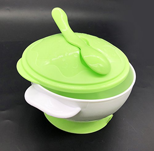 Baby Suction Bowl Stay Put and Spill Proof, Home and Travel Baby Feeding Bowl Set 2 in 1 - PP Baby Bowl and Cutlery Set PP Spoon, BPA Free Baby Training Bowl