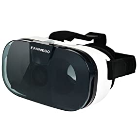 FANNEGO 3D VR Headset Virtual Reality Glasses for 3d Movies And Games Compatiable with IOS/Android 4.0