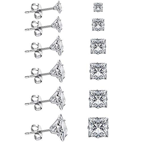 UHIBROS 6 Pairs Stud Earrings Set