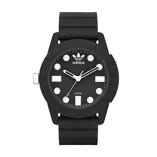 adidas 'ADH-1969' Quartz Plastic and Silicone Casual Watch, Color:Black (Model: ADH3101)