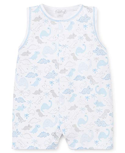 s Infant Roarsome Print Sleeveless Short Playsuit-White with Blue-18-24 Months ()