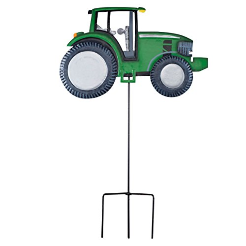 Fox Valley Traders Solar Metal Tractor Yard Stake by Maple Lane Creations