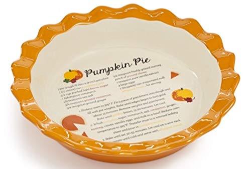 Holiday Autumn Pumpkin Pie Dish - Martha Stewart -