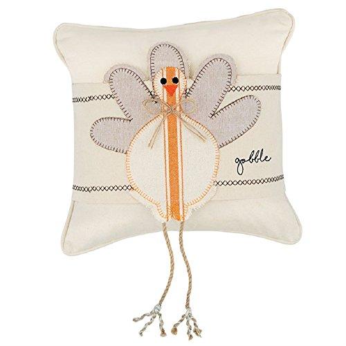 Mud Pie Canvas Turkey Leg Dangling Pillow Wrap