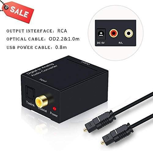RCAオーディオケーブルRCAアダプタトスリンクアナログRCA 3.5ミリメートルジャックアダプターにアナログオーディオコンバータ光に光ケーブルデジタル (Color : Standard Version 1)