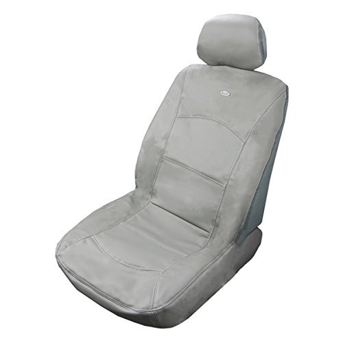(Masque 63014 Luxurious Leather Seat Cover - Manhattan Grey)
