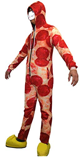 Adult Unisex 3D Printed Hoodie Pajamas Polyester Sportswear Jumpsuit Lion Wolf Cosplay Party Halloween Christmas Wear (Hot Dog Pizza, M) ()