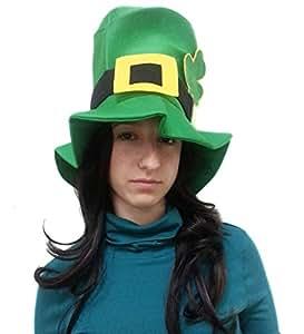 Lindo verde de San Patricio Leprechaun sombrero de fieltro