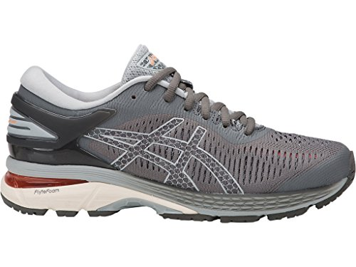 ASICS Women's Gel-Kayano 25 Running Shoes, 8.5M, Carbon/MID Grey