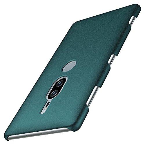 Anccer Sony Xperia XZ2 Premium Case [Colorful Series] [Ultra-Thin] [Anti-Drop] Premium Material Slim Full Protection Cover for Sony Xperia XZ2 Premium 2018 (Not for Xperia XZ2)-Gravel Green