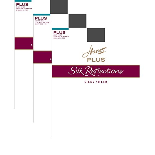 Hanes Silk Reflections Plus Sheer Control Top Enhanced Toe Pantyhose