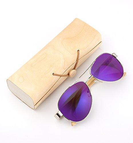 bois bois en en Film bambou bois fabriquées soleil Lunettes main en hommes en à Bamboo Frame lunettes green femmes de soleil Lunettes la de en qRaAXA
