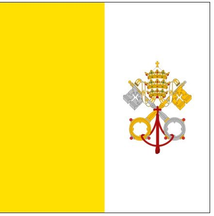Papal Vatican City Dyed Indoor Outdoor Nylon Flag Grommets 6' X 10' by Valley Forge Flag