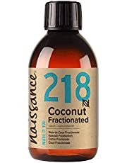 Naissance Fractionated Coconut Oil 8 fl oz - Pure Natural, Vegan, Non GMO, Hexane Free, Cruelty Free - Moisturizing & Hydrating - Ideal for Aromatherapy, Massage and DIY Beauty Recipes