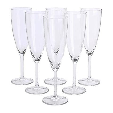 Ikea Svalka Champagne flute Glass, Set of 6
