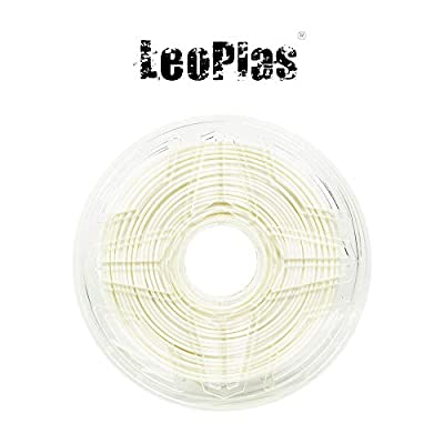 LeoPlas New Store USA Spain China Warehouse Global Shipping No Warping 2.85mm Ultimaker White ABS Filament 10 Colors 1Kg 2.2 Pounds FDM 3D Printer Supplies Plastic Printing Material