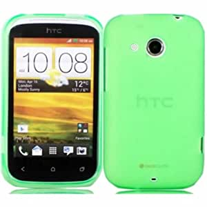 Gel Case Cover Shell For HTC Desire C / Green