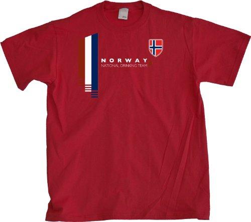 Ann Arbor T-Shirt Co. Men's Norway National Drinking Team T-Shirt