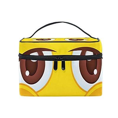 05309f23c6 85%OFF ALIREA Emoji Emoticon Cosmetic Bag Travel Makeup Train Cases Storage  Organizer
