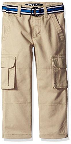 French Toast Big Boys' Belted Cargo Pant, Khaki, (Kids Pants)