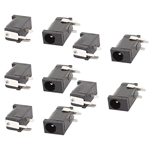 uxcell 10 Pcs 3.5mm x 1.3mm DC Power Jack Socket Charging Connector Port ()