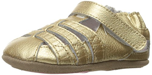 Robeez Girls' Paris Sandal, Paris Gold, 12-18 Months M US Infant (Gold Paris Sandals)
