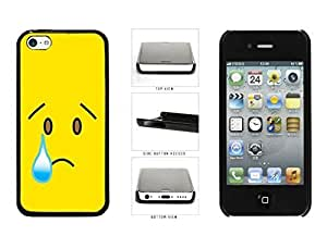 Diy iPhone 6 plus Bright Yellow Sad with Tear Face Plastic Phone Case Back Cover Apple iPhone 6 plus