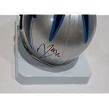 Kenjon Barner Signed Carolina Panthers Mini Replica Football Helmet w/COA - Autographed NFL Mini Helmets