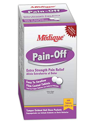 Medique MP22833 Pain-Off Extra Strength Pain Relief Tablet, Standard, White (Pack of 50) ()
