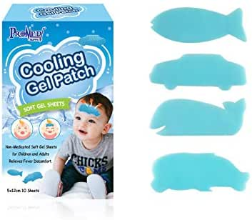 Cartoon Cooling Gel Patch for babies, kids,children and adults relieves fever, migraine, muscle ache and sprain discomfort blue forehead cold hydrogel soft gel sheet cooling sticker 5x12 cm 10 sheets-
