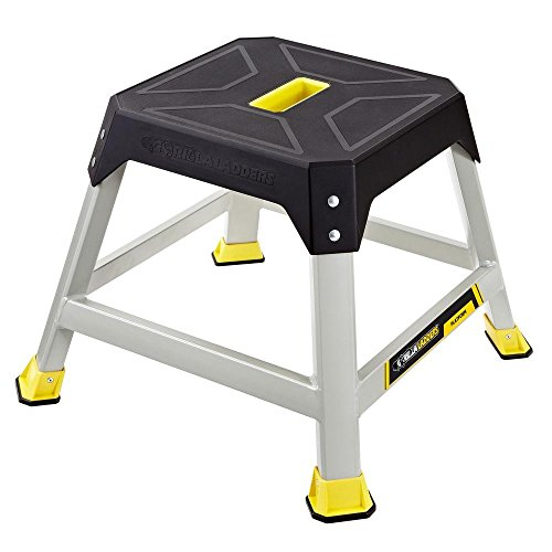 Gorilla Ladders 16 in. Height Slip-Resistant Steel Platform Step with 300 lb. Load Capacity