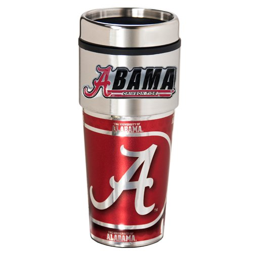 NCAA Alabama Crimson Tide Metallic Travel Tumbler,  16-Ounce]()