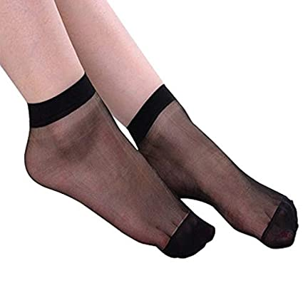VT BigHome 10 Pairs Womens Sock Ultra Thin Elastic Silk Girl Short sokken Ankle Low Cut