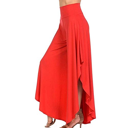 Libero Moda Casual Colpo High Tempo Irregular Monocromo Pantalone Waist Estivi Grazioso Eleganti Donna Pantaloni Asimmetrica Larghi Rot Orlo XnaIFSF1