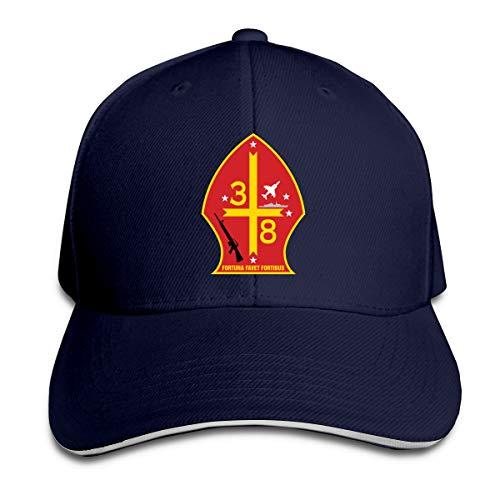 3rd Battalion 8th Marine Regiment Adjustable Baseball Caps Vintage Sandwich Cap Navy